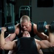 Two bodybuilders training in gym — Stock Photo #4267340