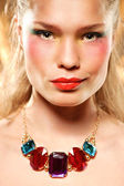Glamour retrato da beleza jovem atraente — Foto Stock