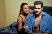 Young couple having relationship problems — Stock Photo