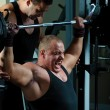 Bodybuilders training in gym — Stock Photo #4665976