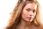 Retrato de jovem linda — Fotografia Stock