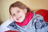 可爱的小女孩的肖像 — 图库照片