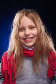 Cute little girl with scarf — Stock fotografie