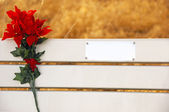 Park Bench Memorial — Stock Photo