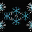 Texture of beautiful snowflakes - Stock Photo