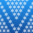 Beautiful snowflakes background - Stock Photo