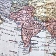 Stock Photo: Ancient map of India