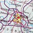 Berlin on map — Stock Photo #3994097