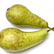 Green pears isolated on white — Stock Photo