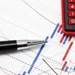 análise de dados no mercado de ações ou outros — Foto Stock