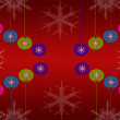 Beautiful abstract christmas light background — Stock Photo