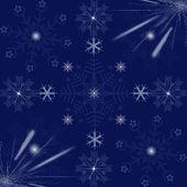 Beautiful snowflakes background — Stock Photo