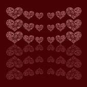 Pozadí abstraktní květinovým vzorem ve tvaru srdce — Stock fotografie