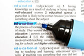 "The word "" EDUCATION"" — Stock Photo"