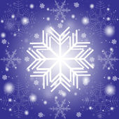 Abstract snowflakes background — Stock Photo