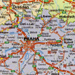 Praha map — Stock Photo