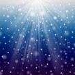 Snow and star — Stock Photo