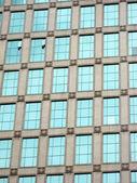 Skyscraper windows background in Hong Kong — Stock Photo