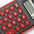 Mini red calculator — Stock Photo