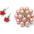 Beautiful brooch and earrings — Stock Photo