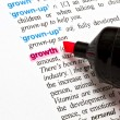 The word - Growth — Stock Photo