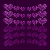 Streszczenie tło wzór kwiatowy w kształcie serca — Zdjęcie stockowe