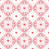 Valentine's hearts and floral pattern — Stockfoto