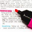 The word Leadership — Stock Photo