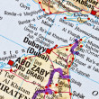 Stock Photo: Dubai map