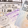 Royalty-Free Stock Photo: Immigration arrival stamps on passport