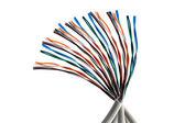 Renkli kablolar — Stok fotoğraf