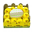 Royalty-Free Stock Photo: Yellow chickens and easter egg