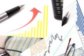 Background of business graph — Stock Photo