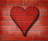 Heart Graffiti on Brick Wall — Stock fotografie