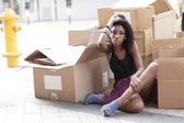 Modelo sin hogar — Foto de Stock