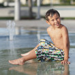 Boy at water park — Stock Photo #4108922