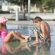 Kids at water park — Stock Photo #4108923