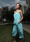 Donna in blu — Foto Stock