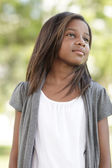 Child glancing away — Stock Photo