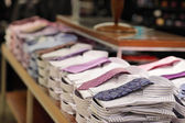 Folded shirts — Stock Photo