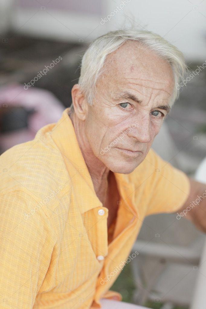 老男人头像 — 图库照片