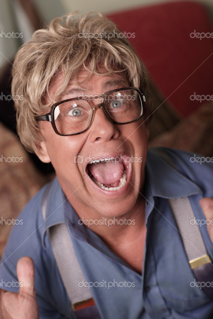 IMage of a businessman screaming — Stock Photo #4447446