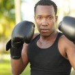 Man with boxing gloves — Stock Photo #4799468