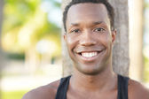 Handsome man smiling — Stock Photo