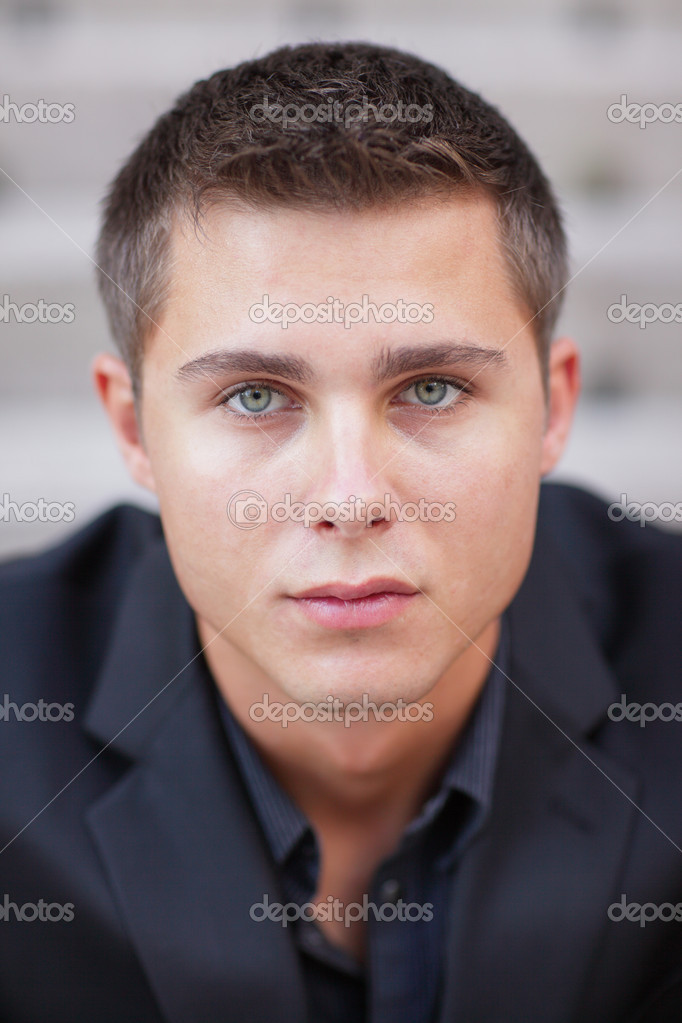 Headshot of a handsome young businessman — Stock Photo #4853557
