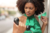 Telefonda karşı öfke — Stok fotoğraf
