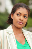 Woman glancing away — Stock Photo