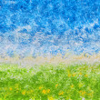 Stock Photo: Abstract Acrylic Landscape
