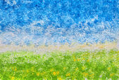 Abstract Acrylic Landscape — Stock Photo