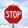 Winter Stop Sign — Stock Photo